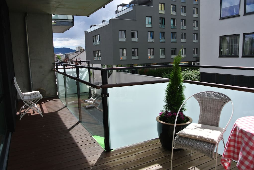 Enjoy the sun outside on a private balcony