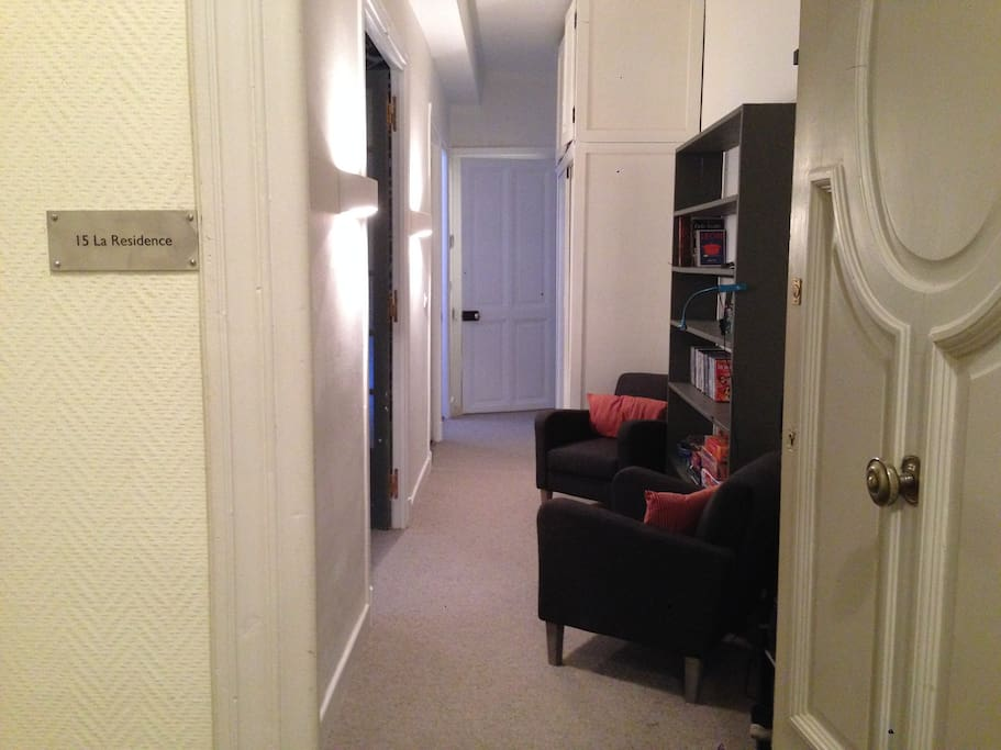 The private entrance to the apartment.