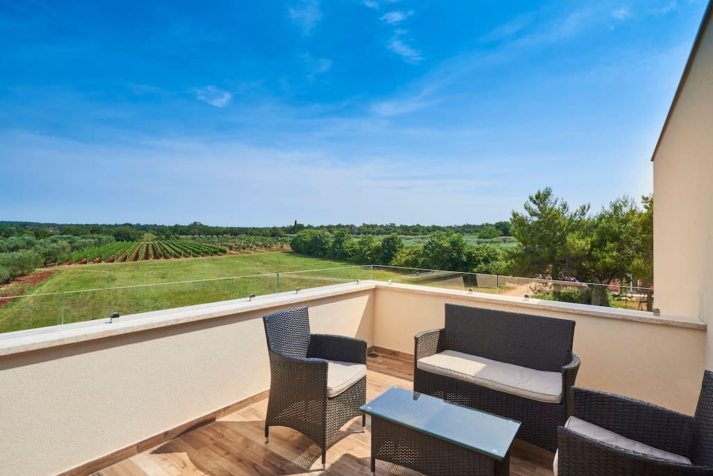 Terrace with beautifull seaview