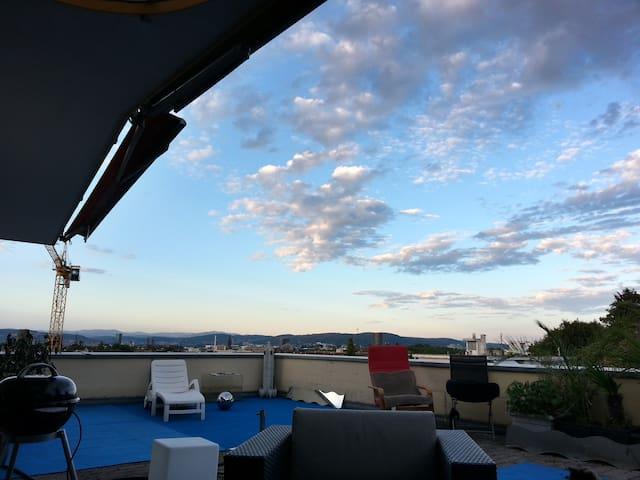 Dachwohung mit toller Aussicht - Binningen - Hus