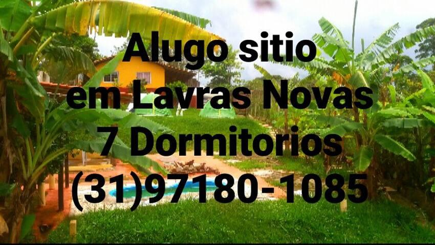 Sitio Inteiro em Lavras Novas R$800,00 Diaria