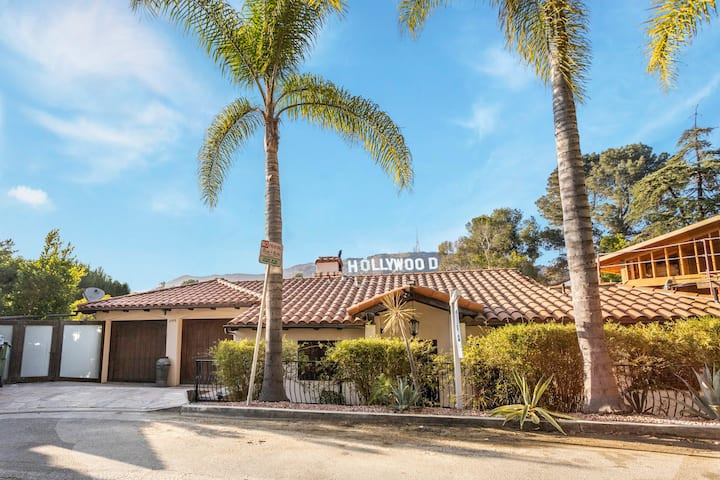 Mediterranean Hollywood Home w/Hollywood Sign View