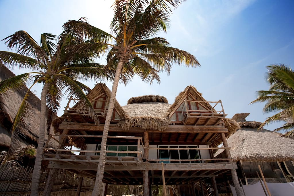 front view of the house from beach