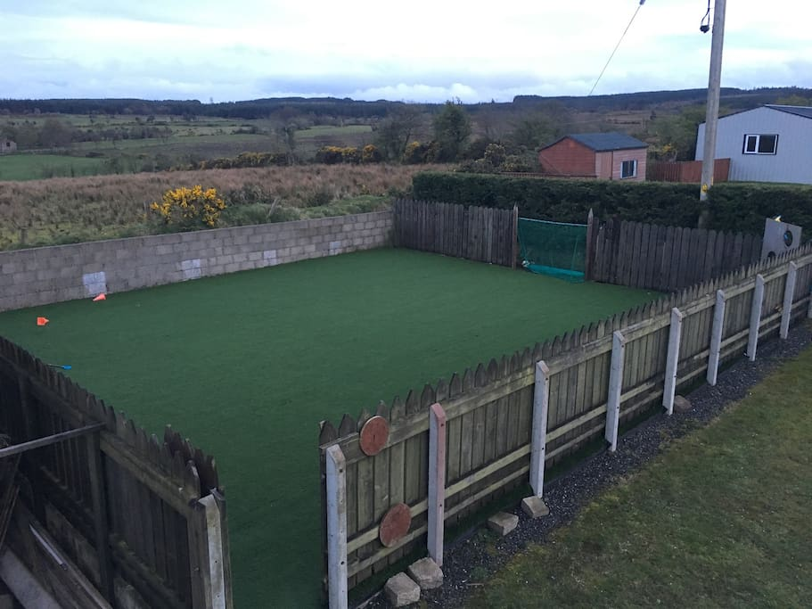 12m sq Astro pitch to keep little soccer stars occupied.