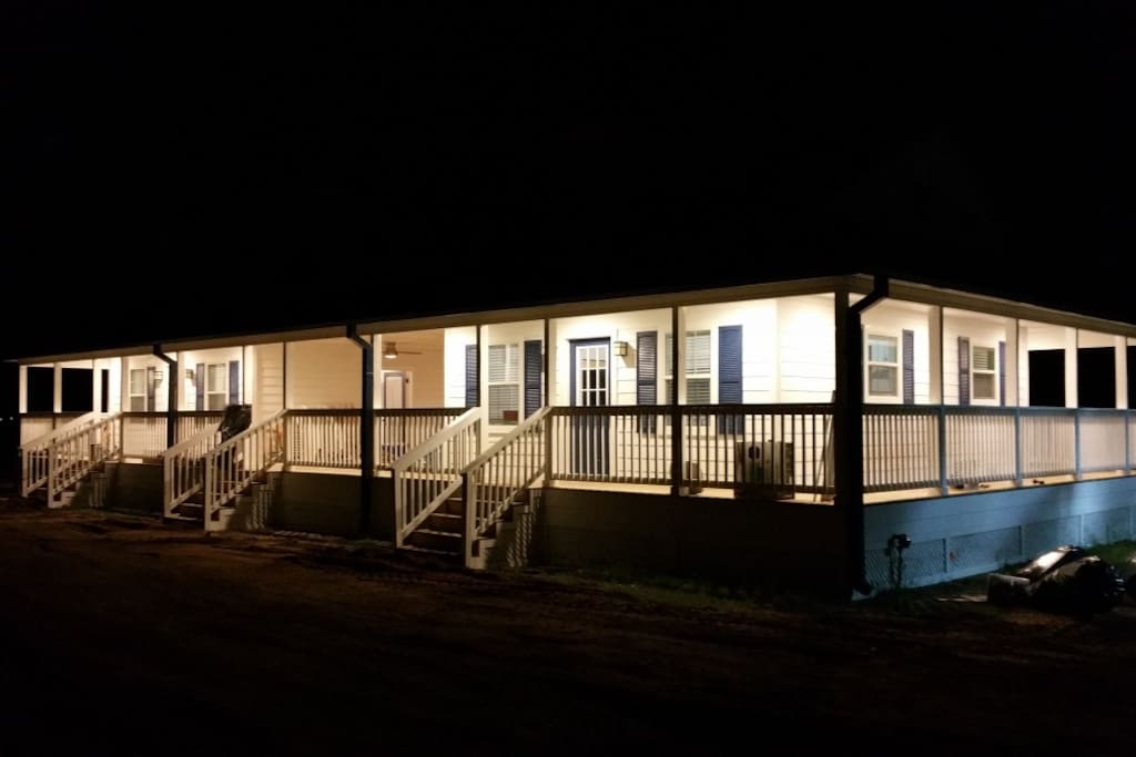 Night at the cabins.