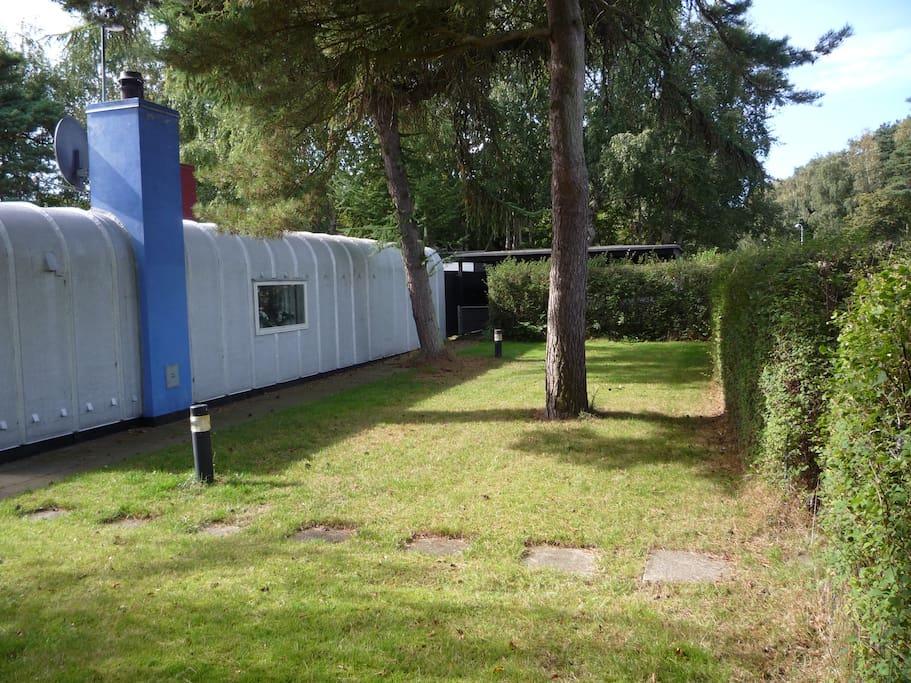 Indgangspartiet, med carport