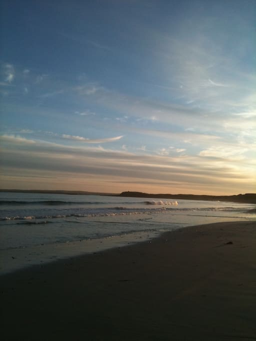 I also teach Yoga on the beach at dawn...