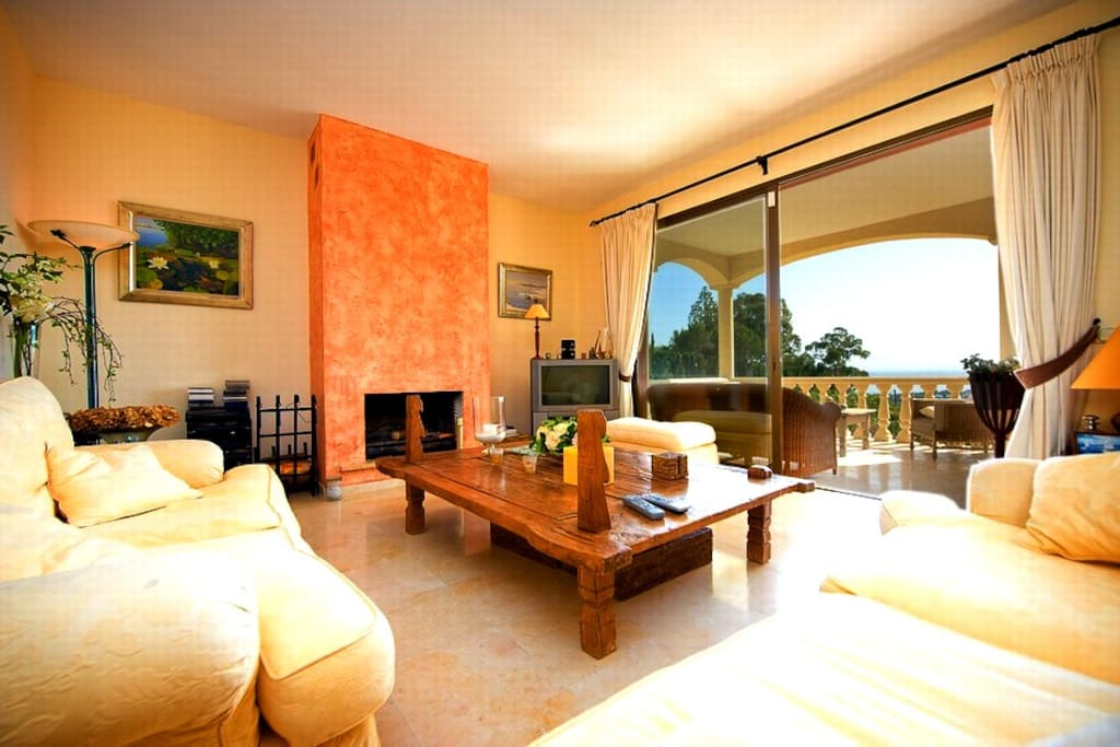 Warm and Cozy Andalusian Living Room