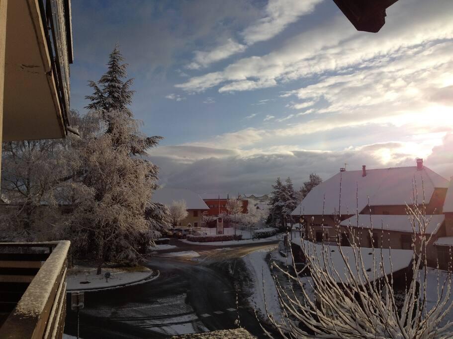 Vue du balcon cet hiver