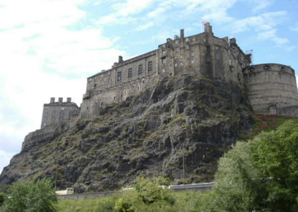 View of Edinburgh Castle from the living room window