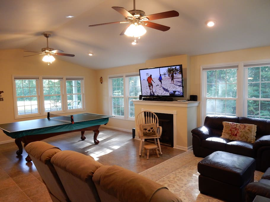 Ping pong table in great room
