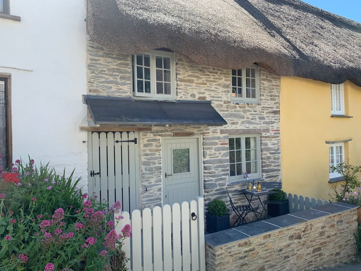 Romantic thatched cottage in Devon seaside village