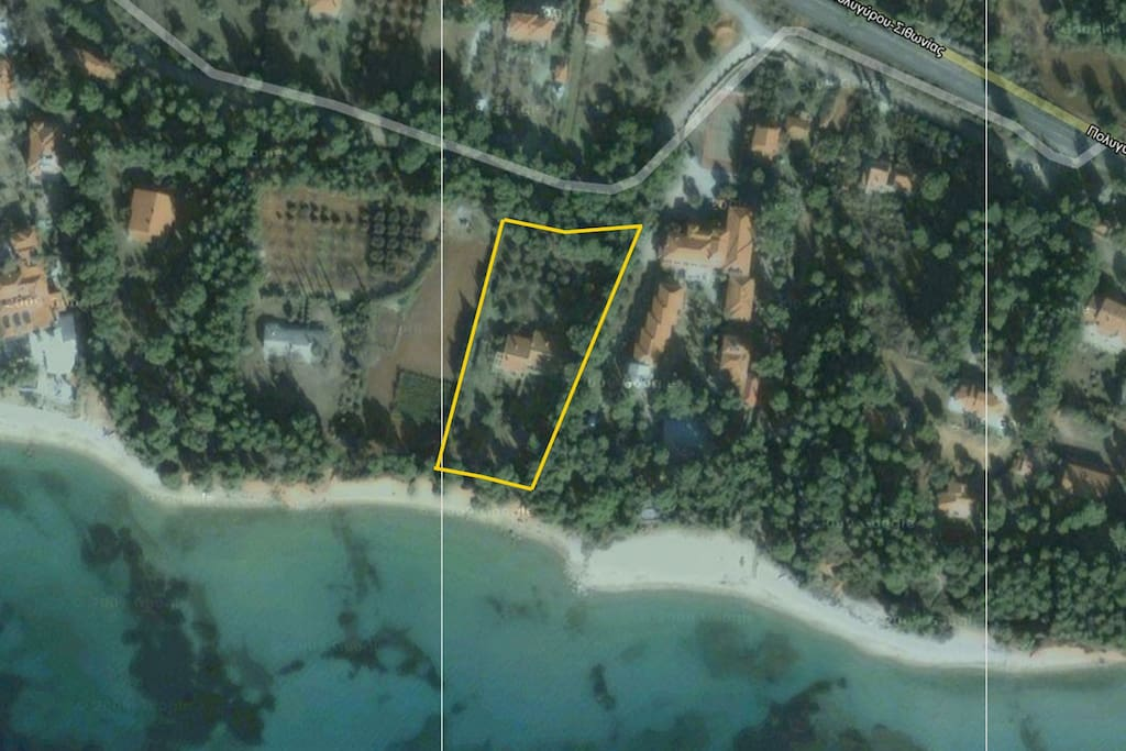 The plot at Makria Lagada Beach next to hotel Porfi