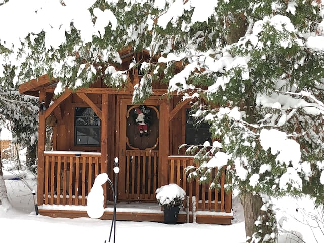 Cabin in the winter.