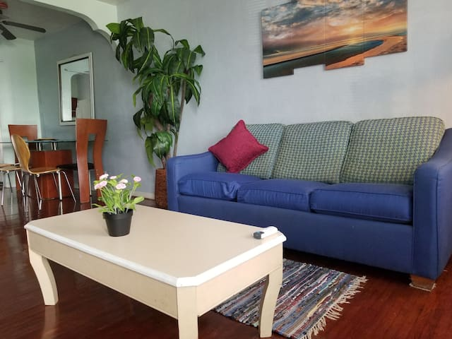 KING Bed, Walk to the Beach, One Brm Private Apt!!