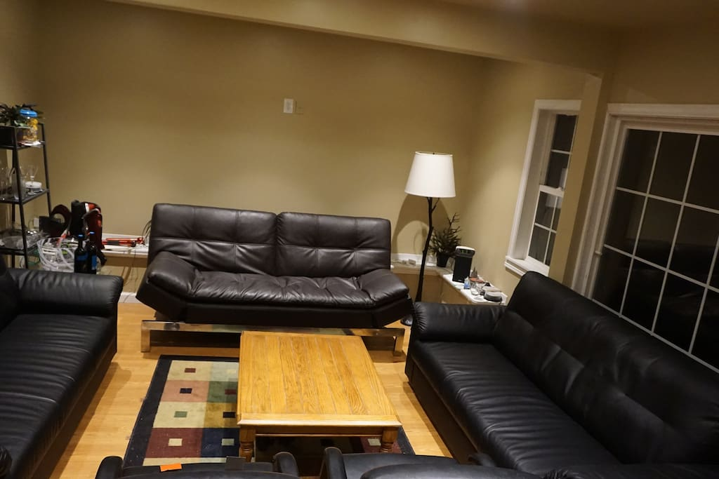 Huge Living room area with one sofa bed and two big Sofas like bed