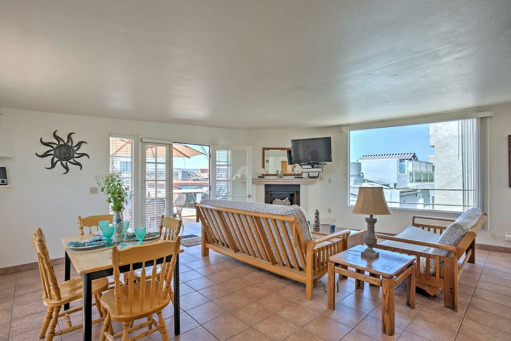 Open french doors to let the warm, ocean breeze flow throughout this home.