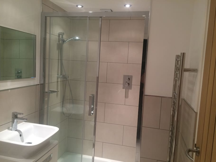 A Large double width shower  in your ensuite