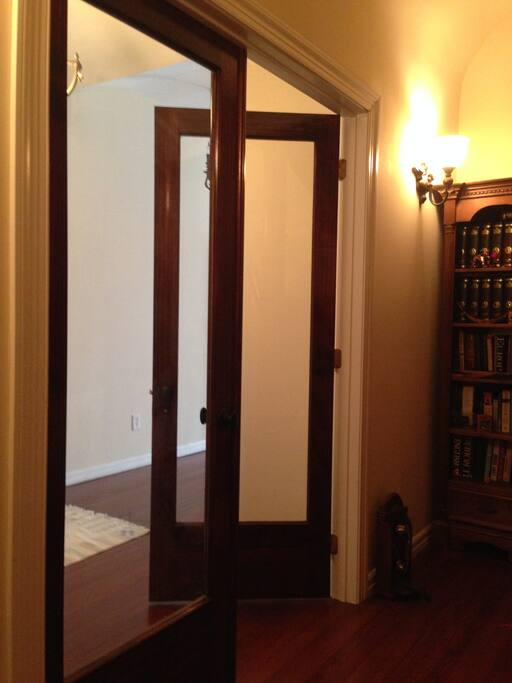 Entrance into the rental apartment.