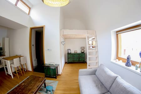 Cozy Studio at Vinohrady + parking - Прага - Apartment