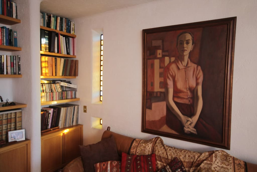 Living room. Painting by Alfredo Zalce.