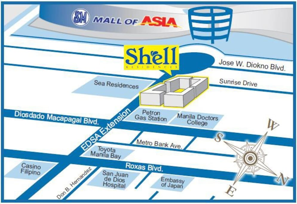 Map of Shell Residences