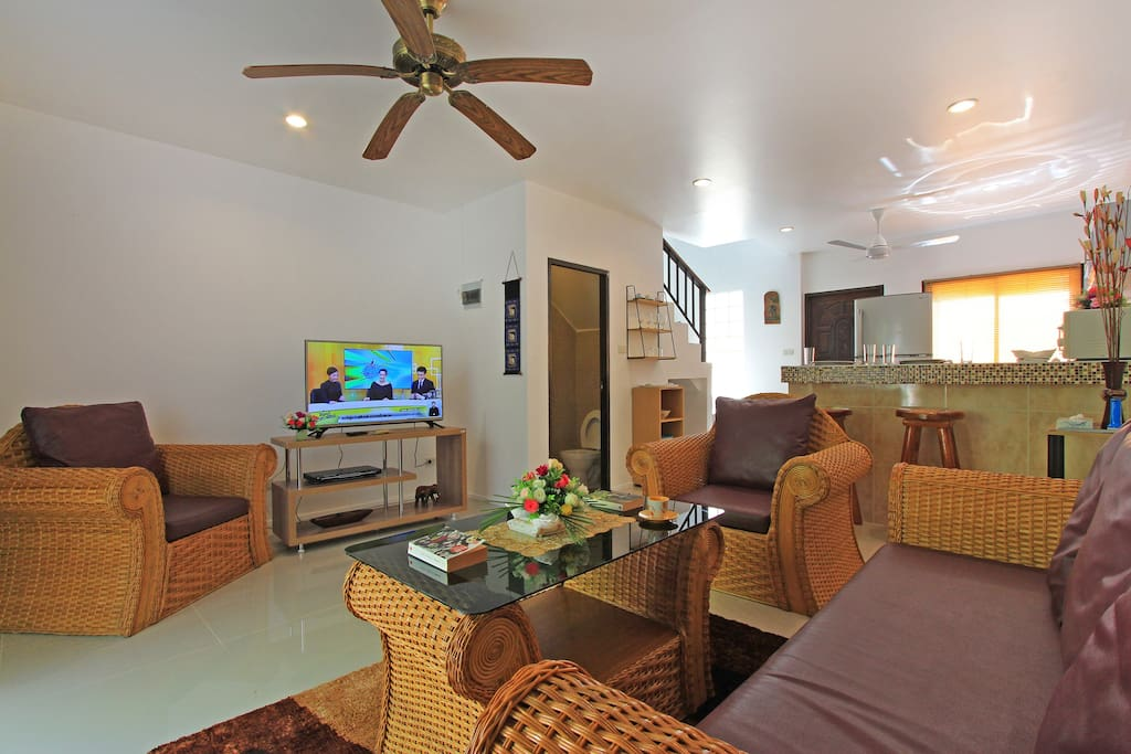 Upper 2 bedroom duplex townhouse w pool near beach serviced apartments for rent in ko samui for 2 bedroom townhouse for rent near me