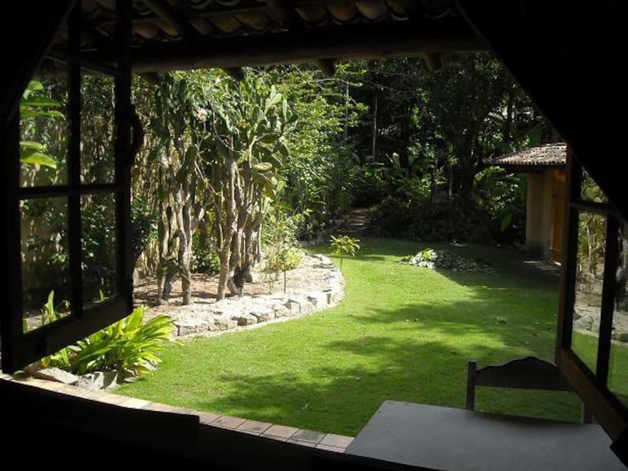 vista interna para o jardim