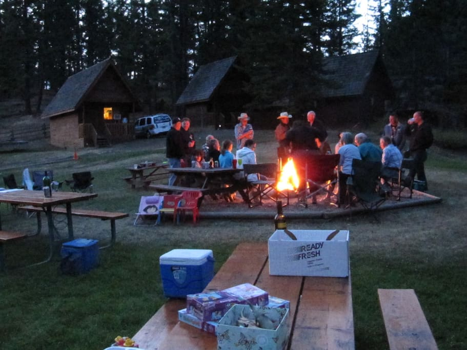 Bring a group and relax around the campfire
