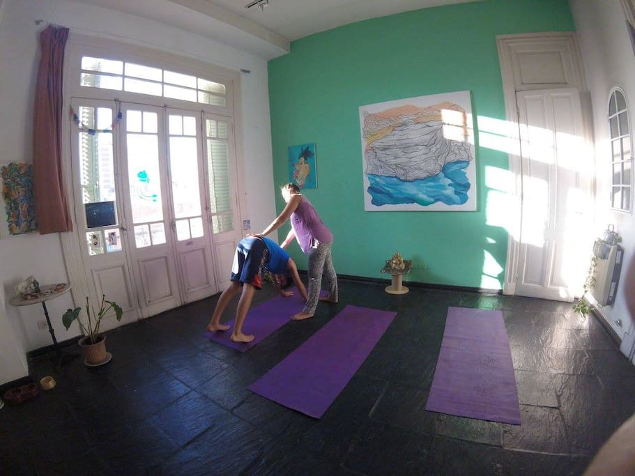 The studio when we set up for Yoga