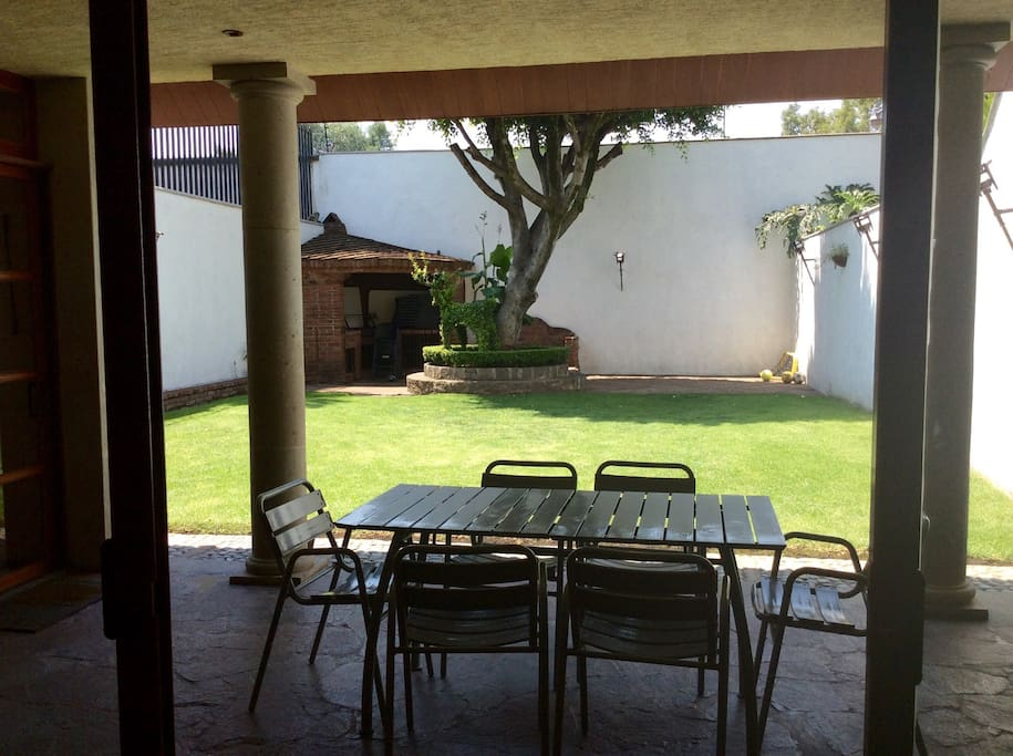 Beautiful garden with porch where you can relax and have breakfast or lunch.