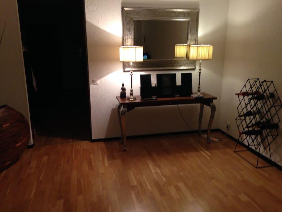 Atmosfär i vardagsrummet med B&O stereo