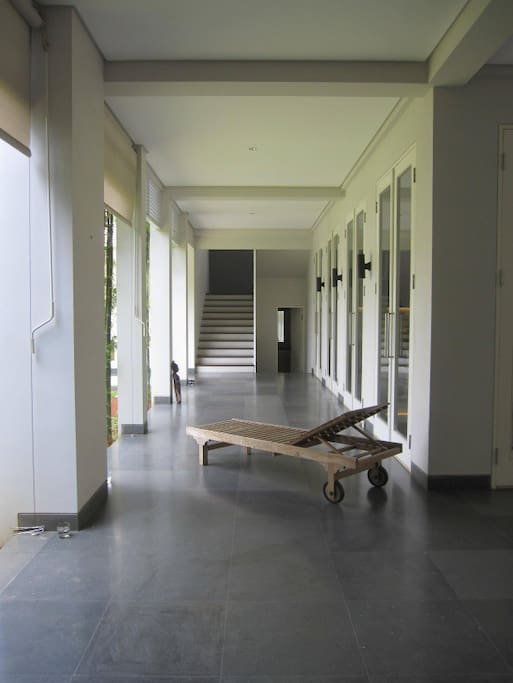 L-shape Terrace and stairs to 2/F.