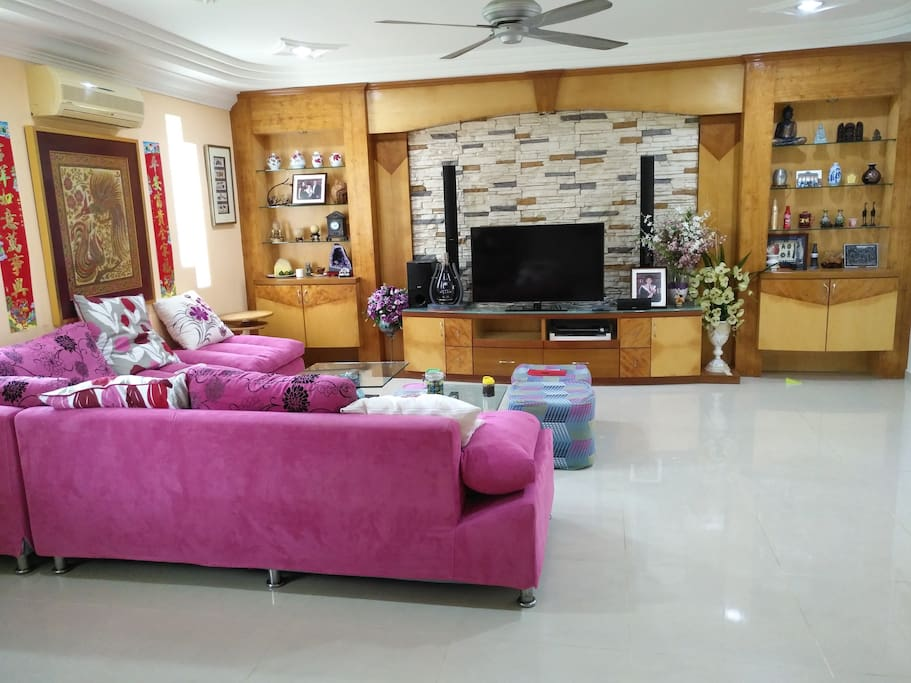 Living room with Astro TV