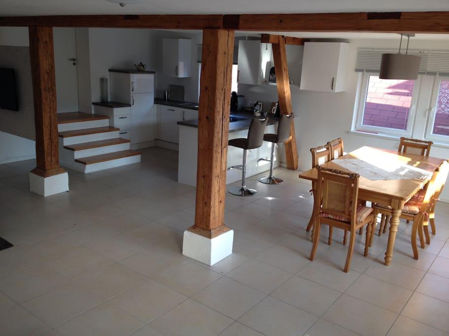 Wohnen,essen, kochen,schlafen, Doppelbett 1,80mx2,00m