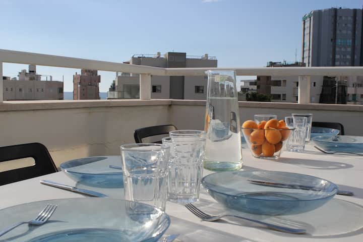 Sunny duplex-with beautiful view, huge terrace