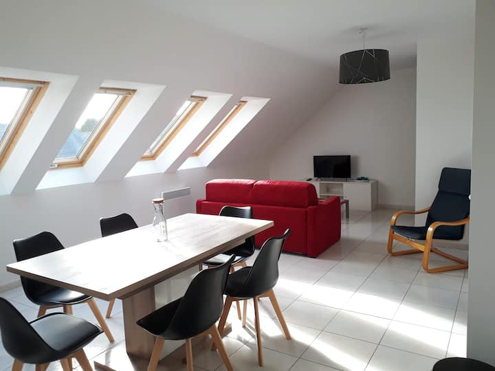 Luminous apartment in downtown Perros-Guirec