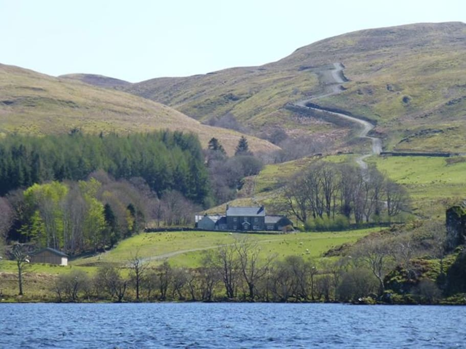 View from the Loch up to the farmhouse.