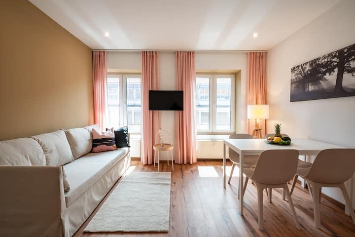 Zentrales 40-qm-City-Apartment (Nr. 5) für 4 Pers.