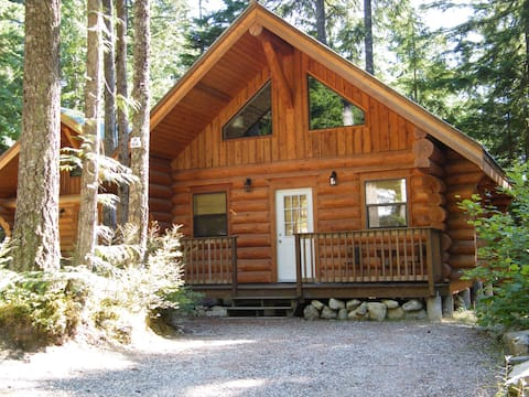 Beautiful log cabin in the woods..