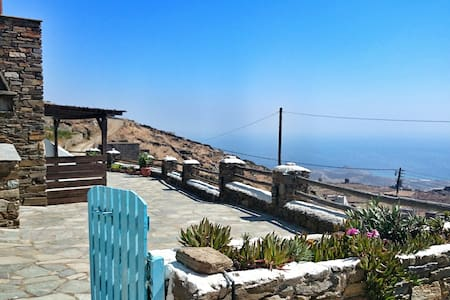 Best view in town- family house 2-5 - Tinos