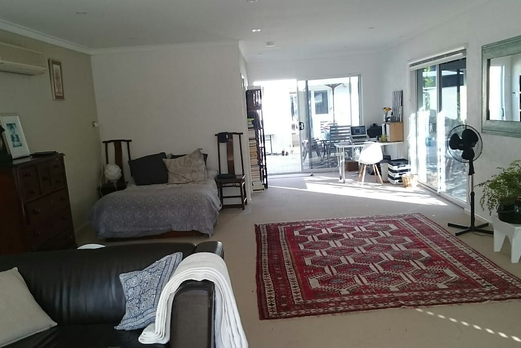 Awesome private space with double bed, lounge, desk and ensuite.