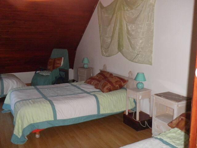 Chambre verte  3eme étage - Peyrusse - Bed & Breakfast