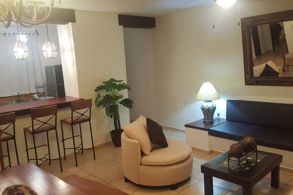 Beautiful, just renovated living room, completely furnished and equipped.  Perfect for enjoying wonderful vacations.