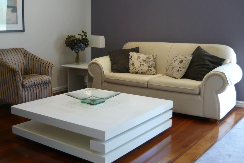 Living Area.. polished boards
