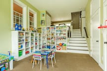 playroom - stocked with toys
