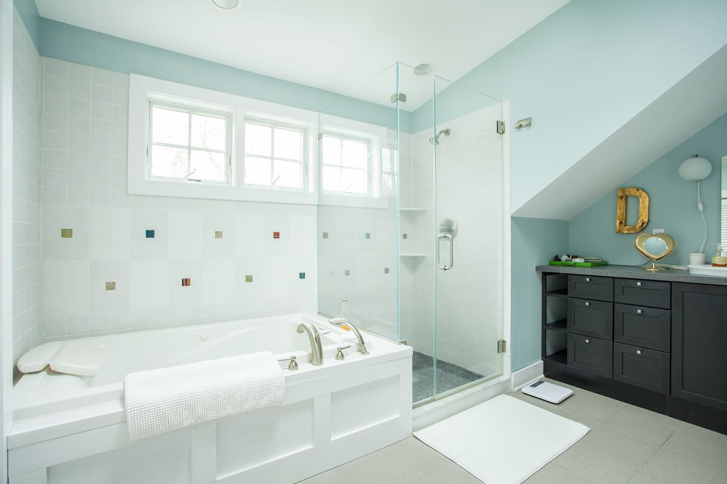 master bath - laundry is in here