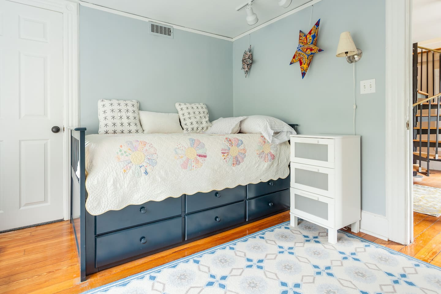 2nd bedroom on 2nd floor - Trundle bed pulls out so could sleep two in this room.