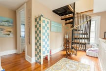 hallway on second floor - stairs leading to 3rd floor suite