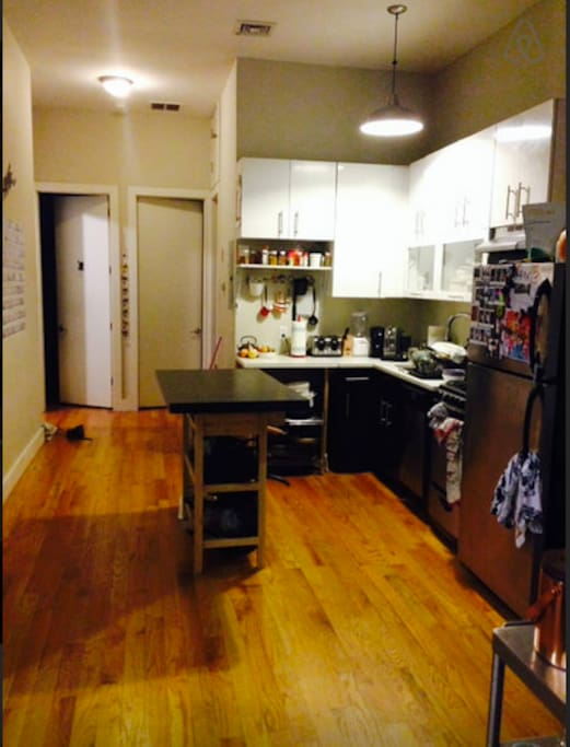 Our open style kitchen